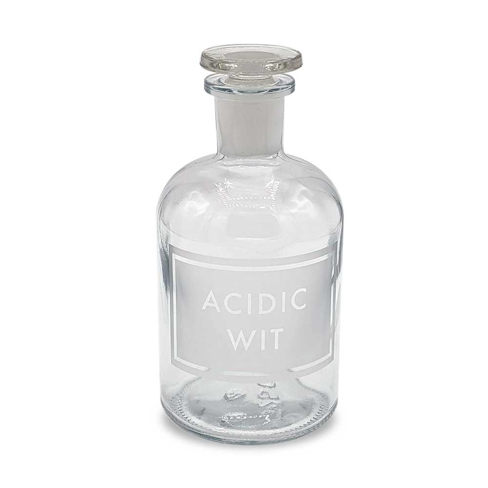 Etched Apothecary Bottle - Acidic Wit