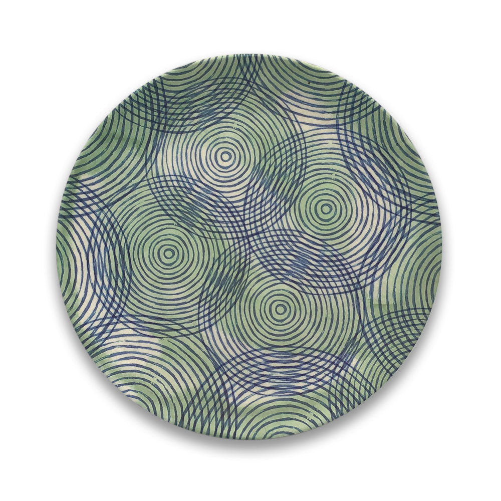 Bamboo Plate - Colourful Circles - Clare Laughland at Home