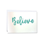 Hand-cut greetings cards of good cheer - Believe - Clare Laughland at Home