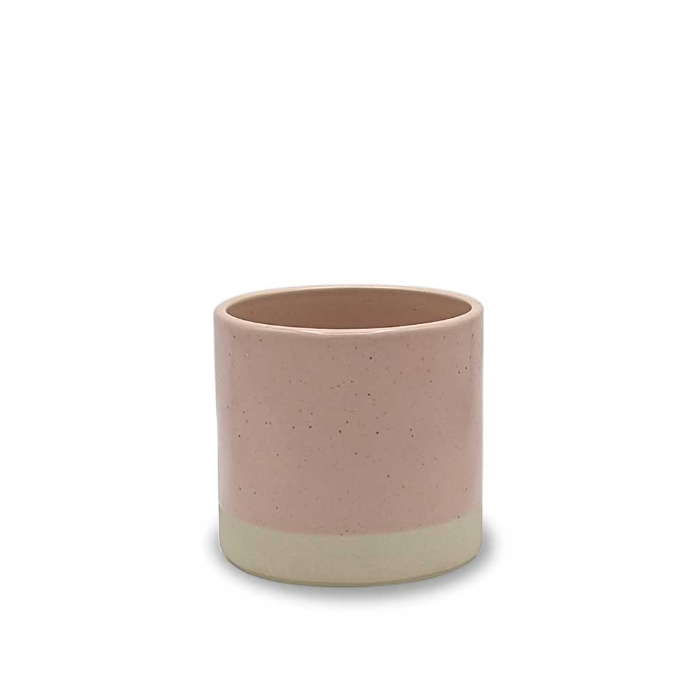Blush pink Ceramic plant pot - small