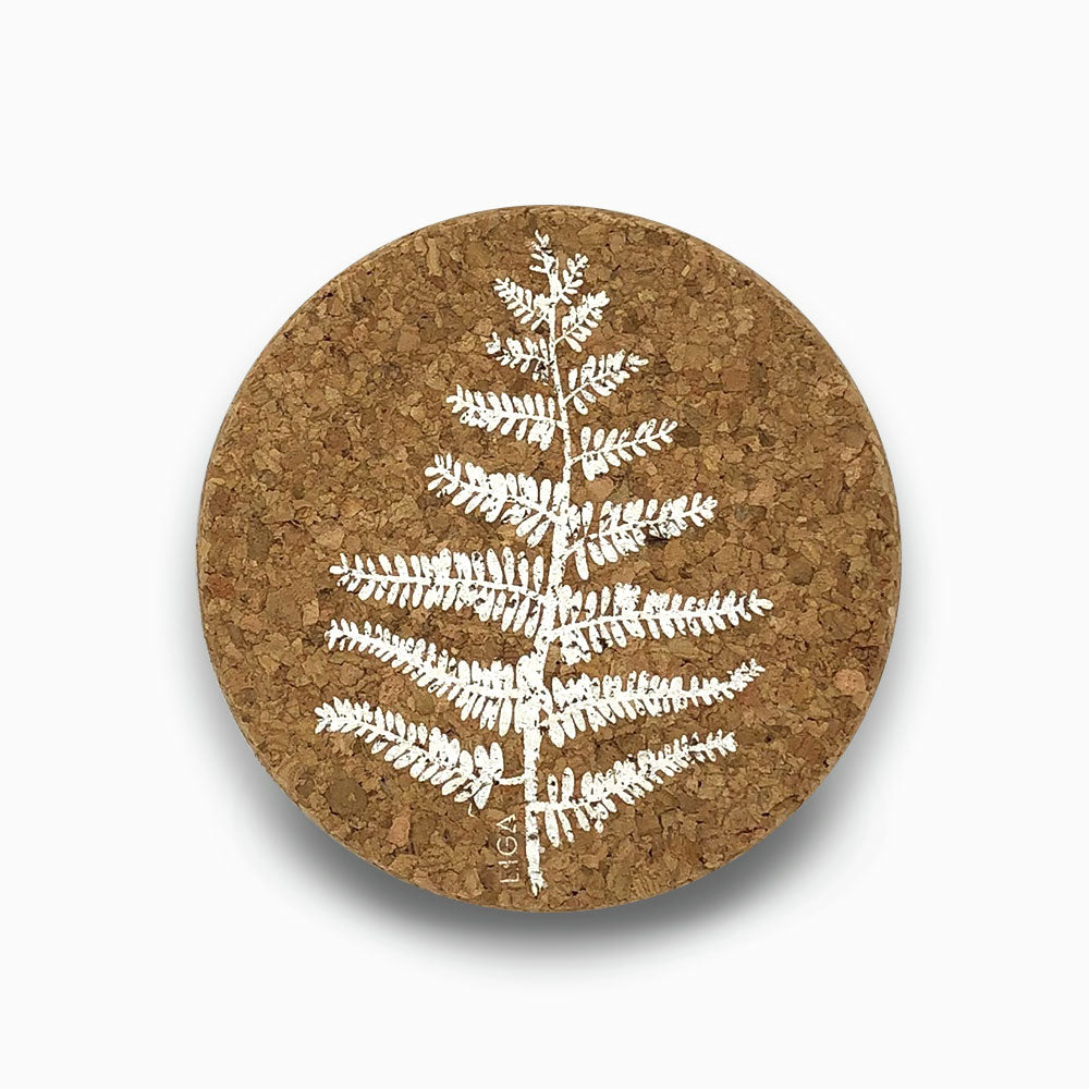 Cork coasters - Fern