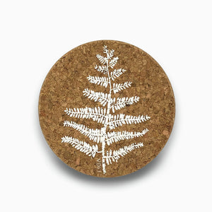 Cork coasters - Fern - Clare Laughland at Home