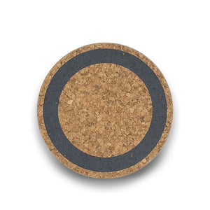 Cork coasters - World grey - Clare Laughland at Home