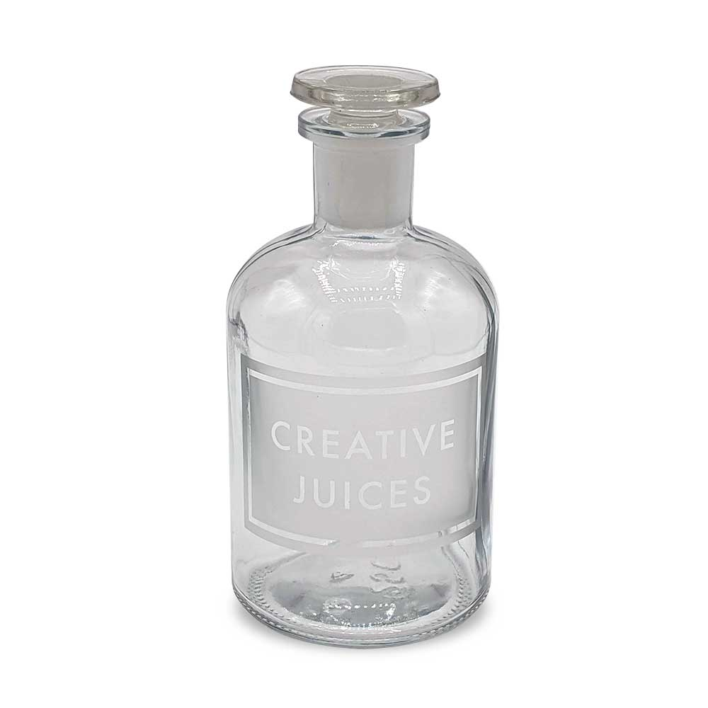 Etched Apothecary Bottle - Creative Juices