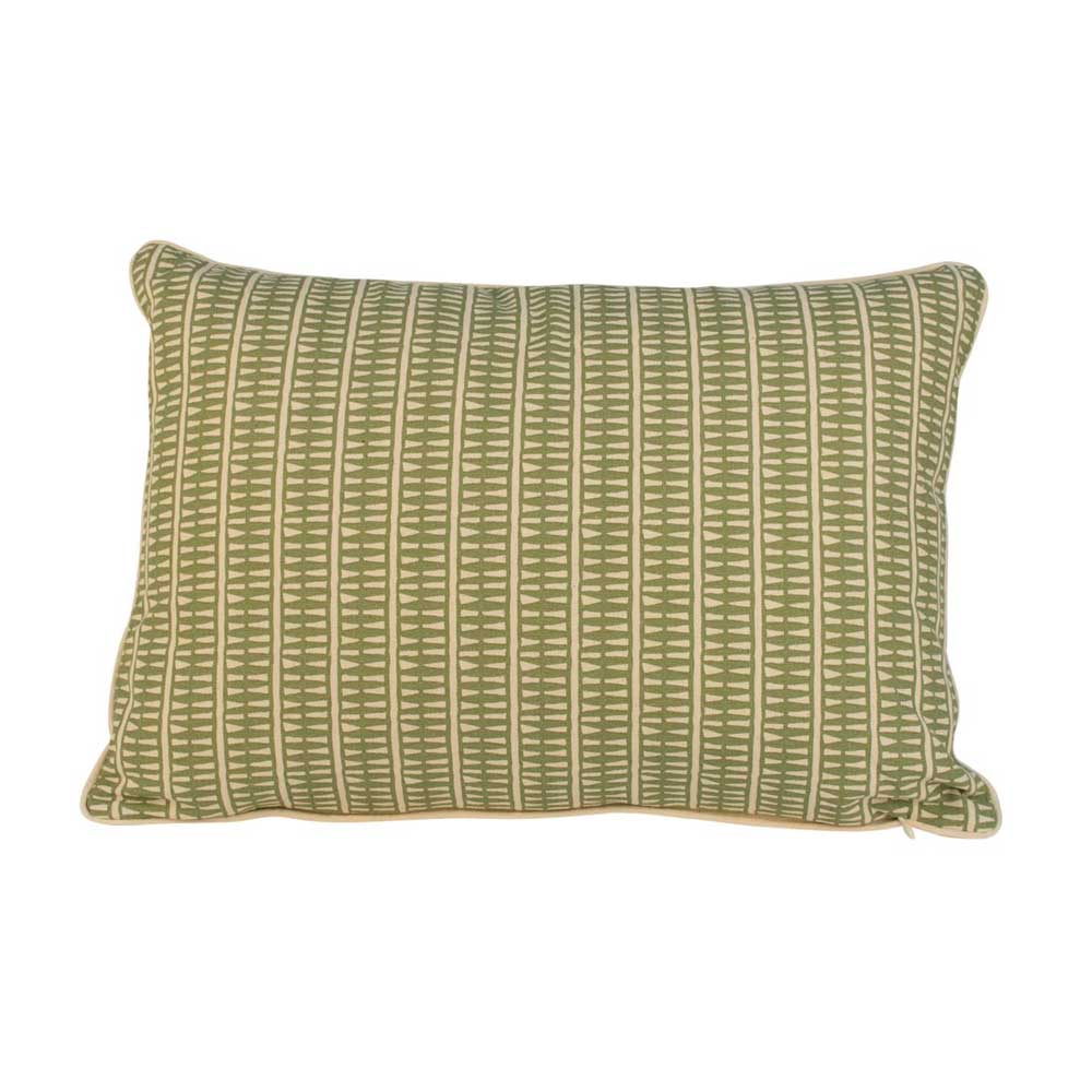 Everyday cushions, Lima Olive with Ecru Piping