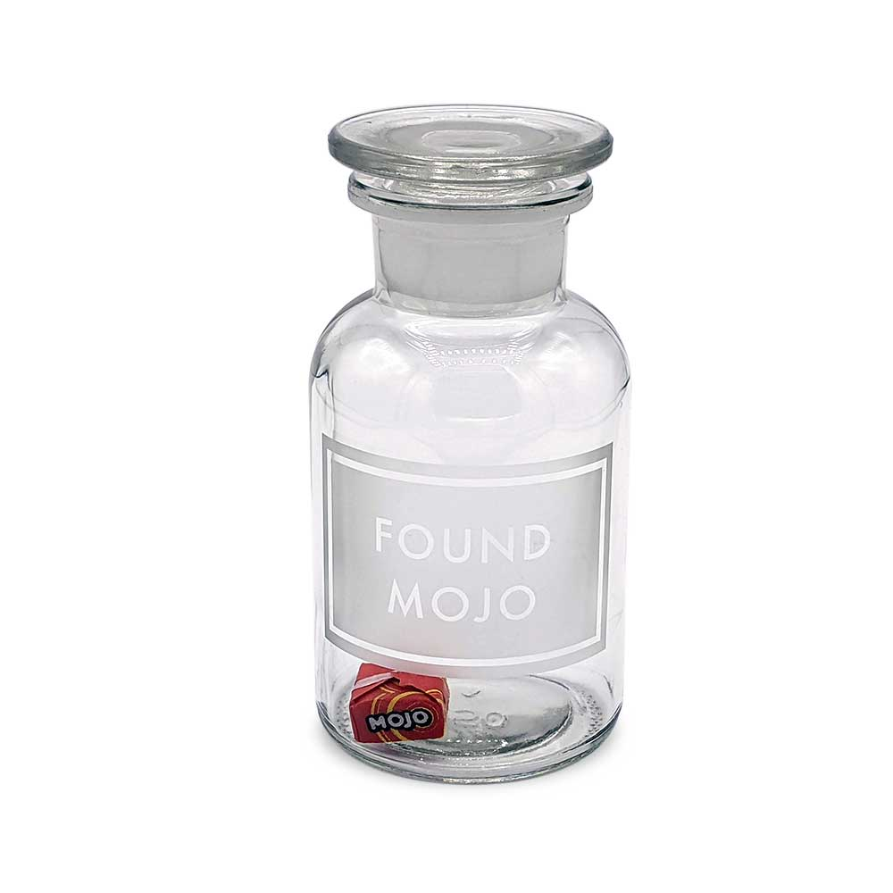 Etched Apothecary Jar - Found Mojo