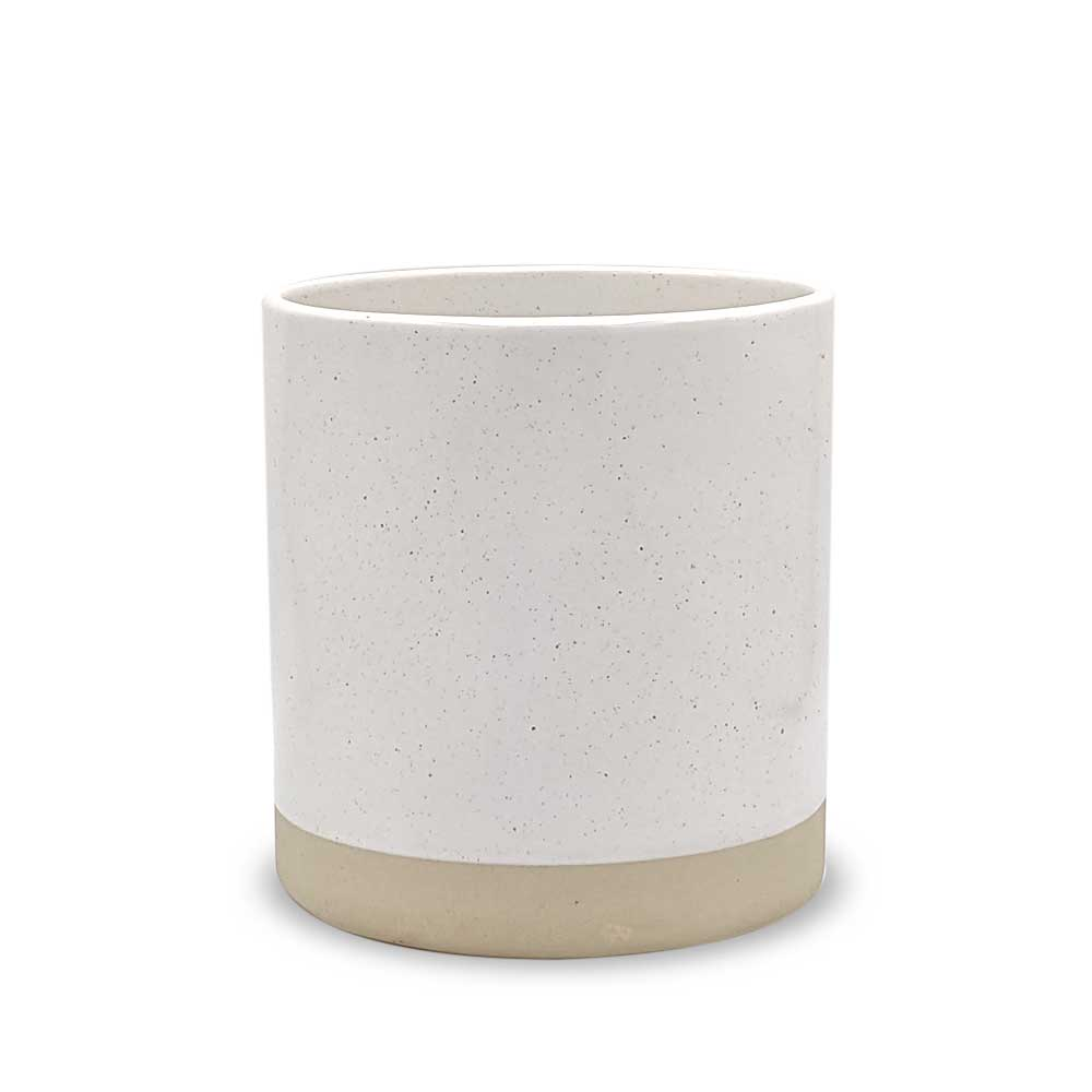 Speckled Ivory Ceramic plant pot - large