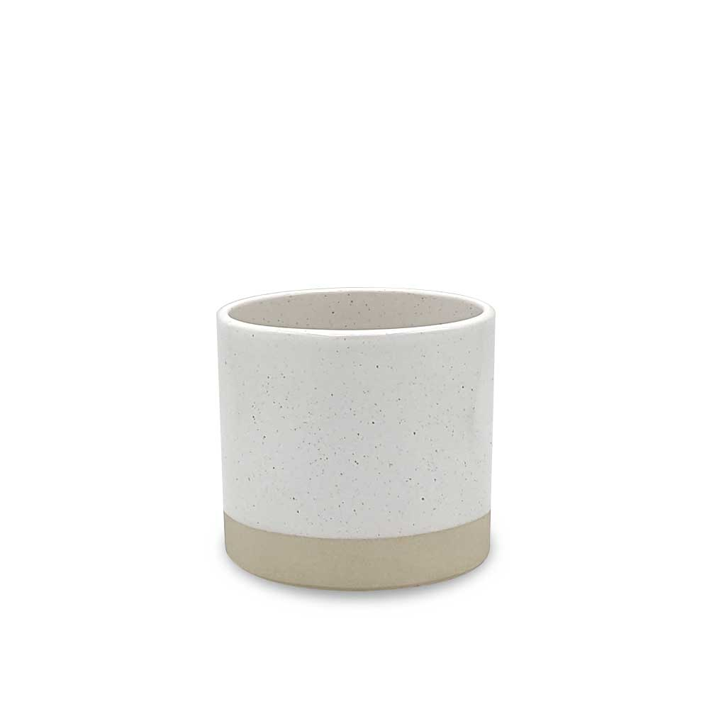 Speckled Ivory Ceramic plant pot - small
