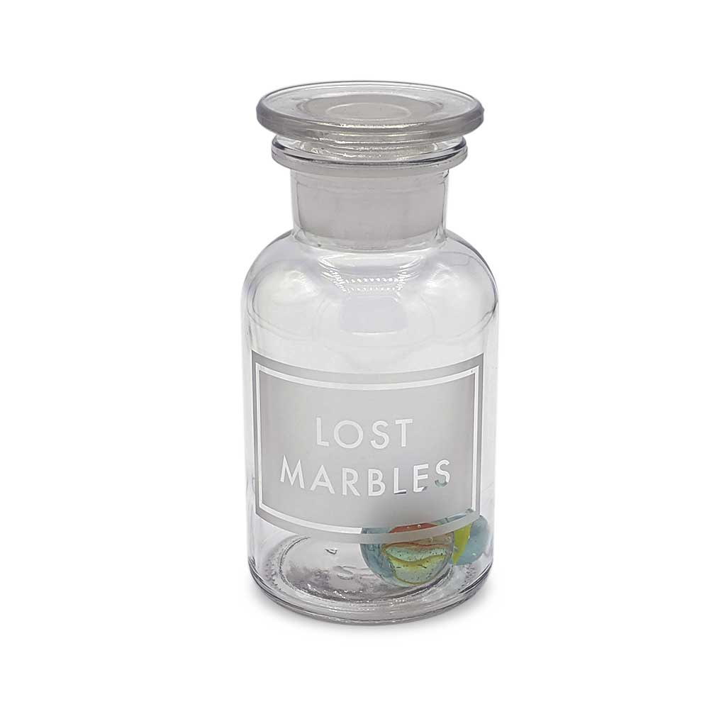 Etched Apothecary Jar - Lost Marbles