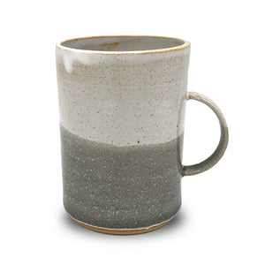 Stoneware Tall mugs - Misty morning & pale grey - Clare Laughland at Home