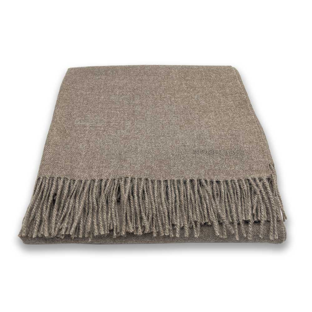 Luxury alpaca wool throw - mocha - Clare Laughland at Home