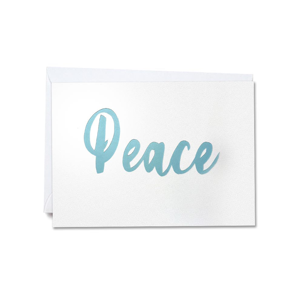 Hand-cut greetings cards of good cheer - Peace