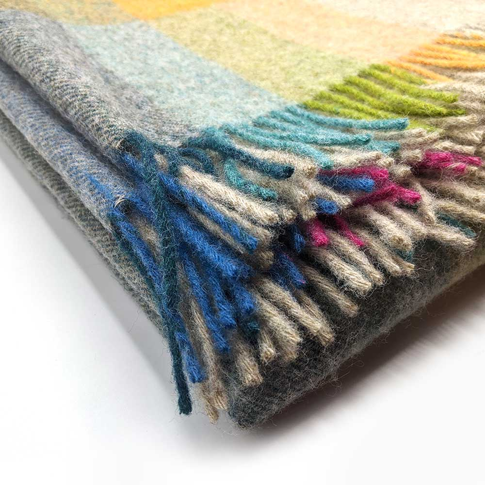 Wool throw -  Harley Stripe Tutti Frutti - Clare Laughland at Home