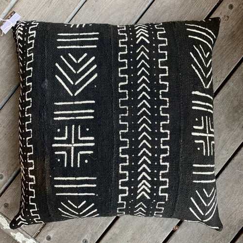 Mali Mudcloth Cushion - Black