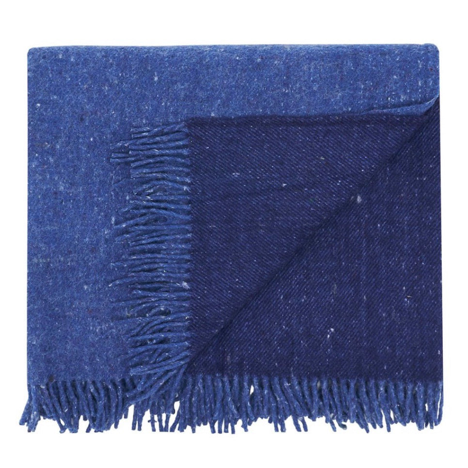 Waverley Recycled Wool Throw - blue