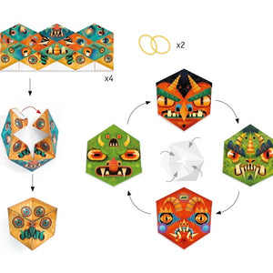 Djeco - Paper Creations Flexi Monsters