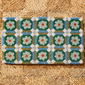 Bonnie & Neil - Door Mat Aster Green