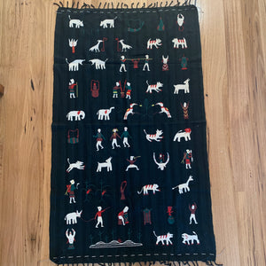 'Village Life' throw/wall hanging