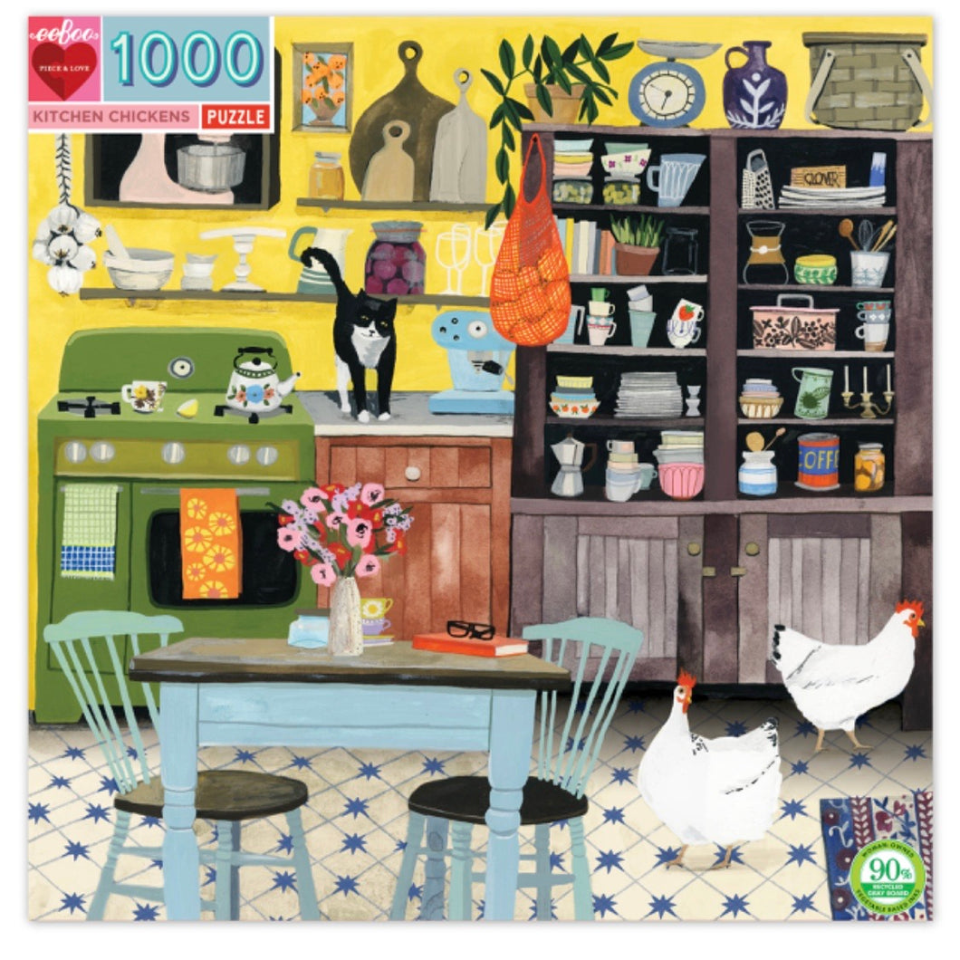 Eeboo 1000 piece - Kitchen Chickens
