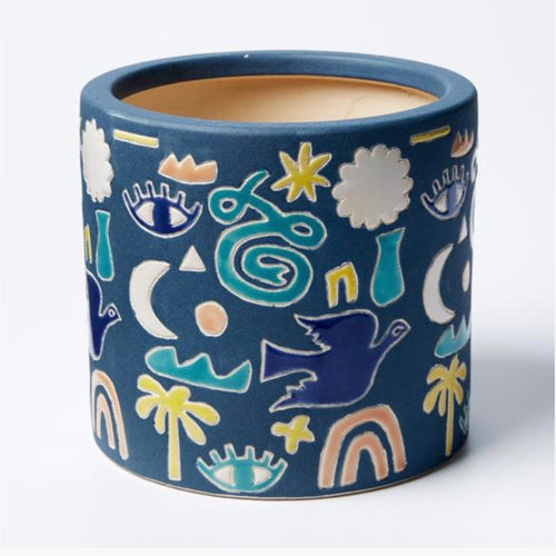 Jones & Co - Gypsy Fields Planter Blue