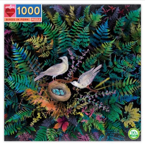 Puzzle - 1000 piece Birds In Fern