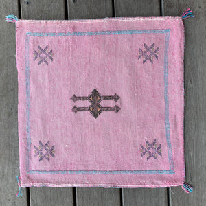 Cactus Silk Cushion - Square Pink