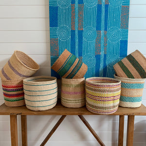 Kenyan Sisal Basket - large