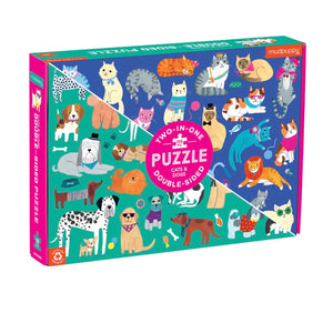 Puzzle 100 piece - Double sided Dogs and Cats