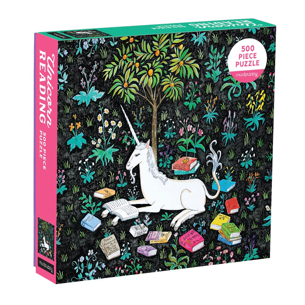 Mudpuppy 500 piece - Unicorn Reading