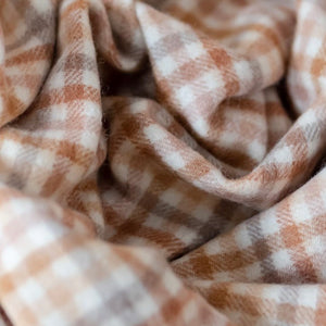 Tartan Blanket Co. Lambswool Scarf - Neutral Check
