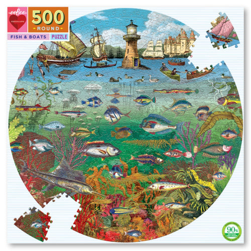 Puzzle - 500 piece Fish & Boats