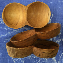 Timber double dish