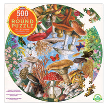 Round Puzzle 500 piece - Mushrooms