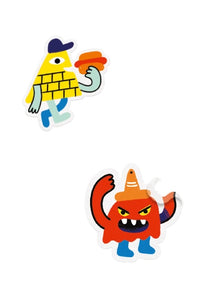 Djeco - Sticker Story Monster Invasion