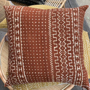 Mali Mudcloth Cushion - Rust