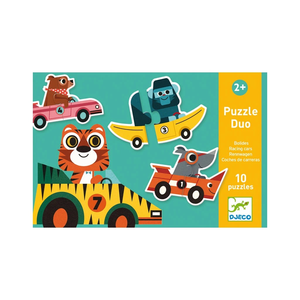 Djeco - Duo Racing Cars Puzzle