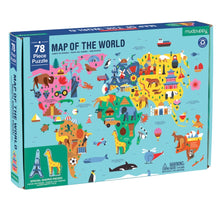Mudpuppy 78 piece - Map of the World