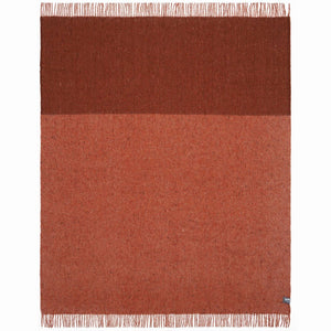 Waverley Recycled Wool Throw - rust