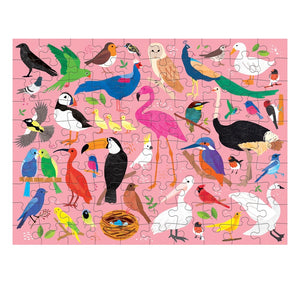 Mudpuppy 100 piece - Double sided Birds and Bugs