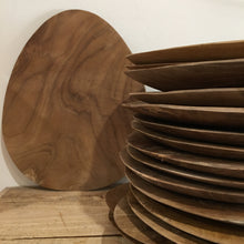 Timber oval platter