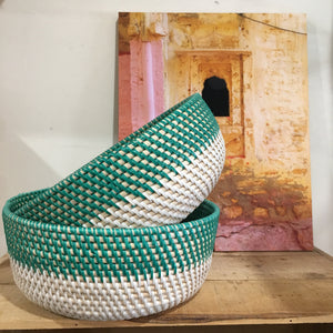 Small Rattan bowl - green