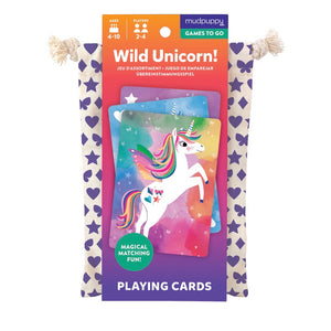 Mudpuppy Card Game - Wild Unicorn