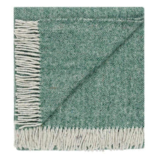 Waverley Recycled Wool Throw - Forest Green