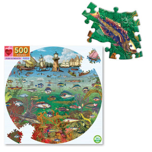 Eeboo 500 piece - Fish & Boats