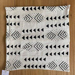 Mali Mudcloth Cushion - White