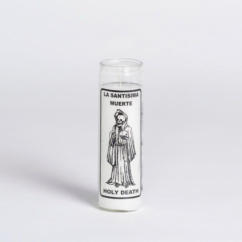W Pico Candle - Holy Death white