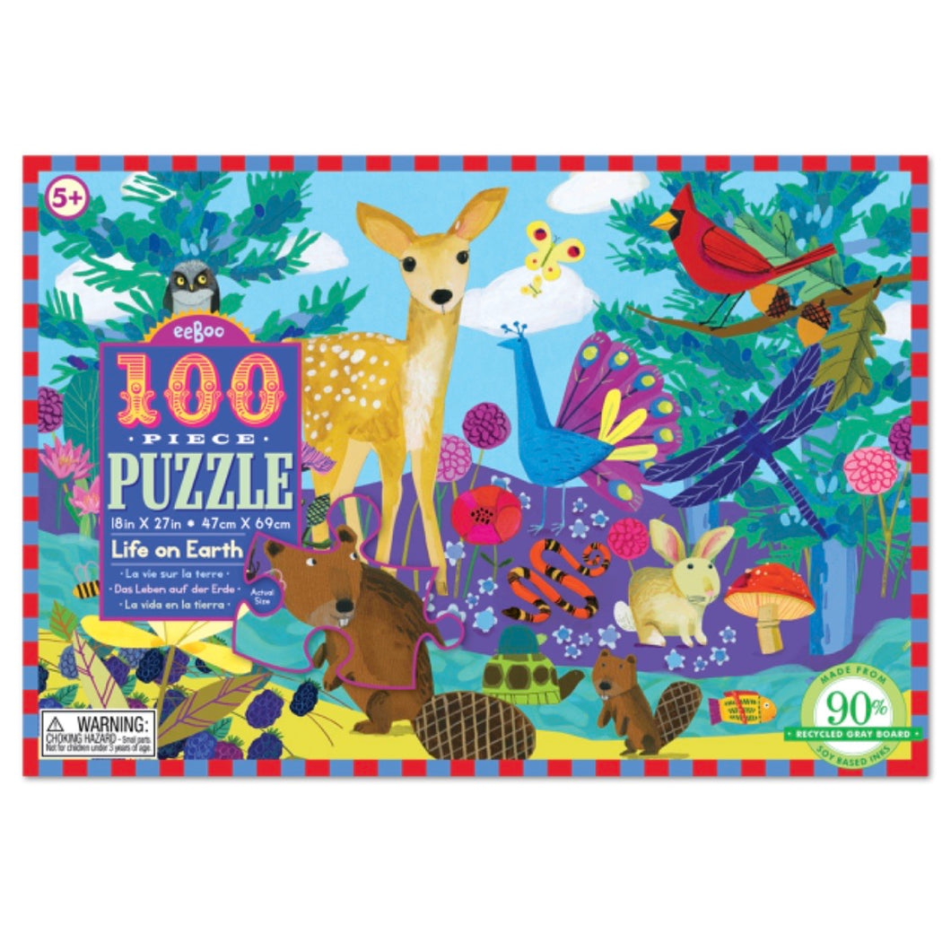 Eeboo 100 piece - Life On Earth