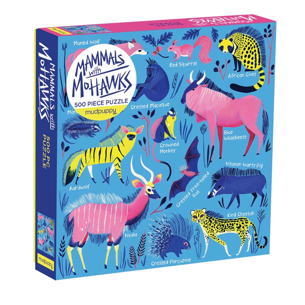 Mudpuppy 500 piece - Mammals with Mohawks