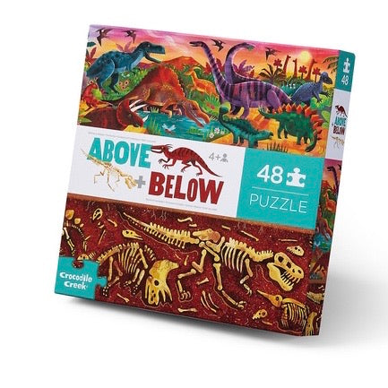 Crocodile Creek - Above & Below Dinosaurs 48 piece puzzle