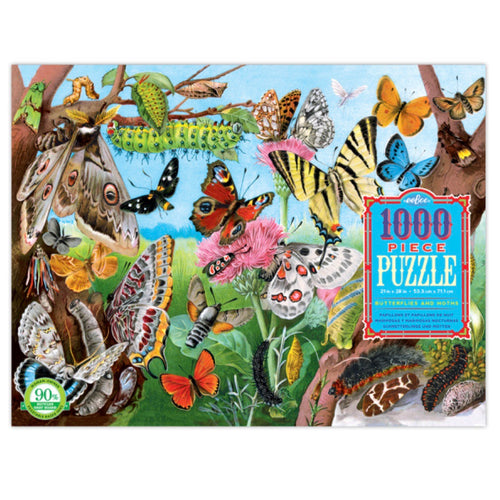Puzzle - 1000 piece Butterflies & Moths